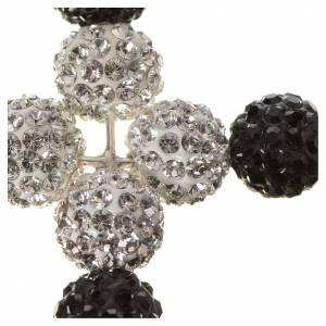 Pendant cross with Swarovski beads 5x4cm s2