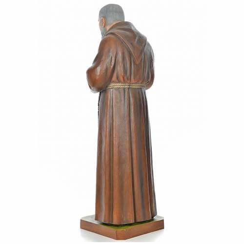 Père Pio en fibre de verre peinte 175 cm s3