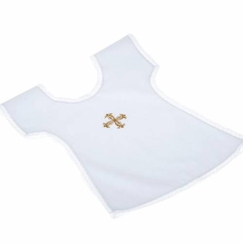 Petite camisole pour baptême,croix or s1
