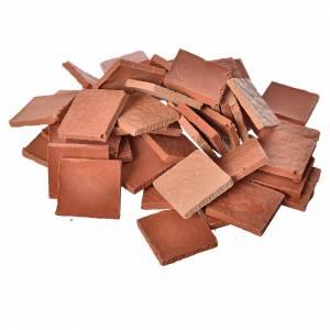 Accessori presepe per casa: Piastrelle quadrate resina 15x15mm 50pz