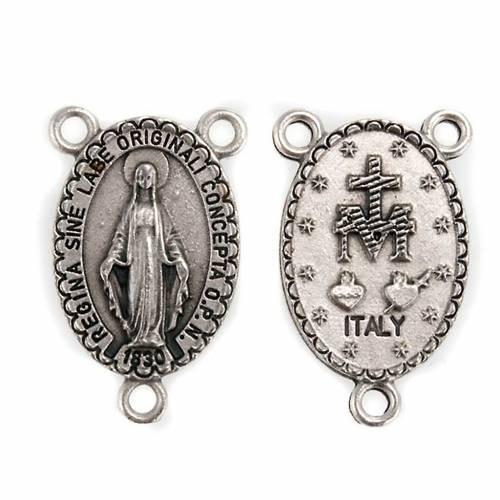 Pièce centrale ovale accessoire chapelets Vierge miraculeuse s1