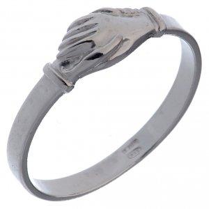 Obrączki z modlitwą: Pierścionek Dłonie srebro 925