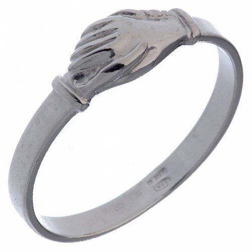 Pierścionek Dłonie srebro 925 s1
