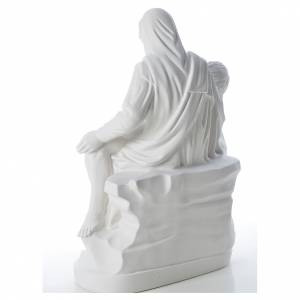 Pietà statue made of reconstituted marble 53 cm s3