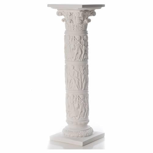 Pilier décoré marbre reconstitué, 80 cm s1
