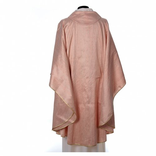 Pink Chasuble in pure Shantung silk s2