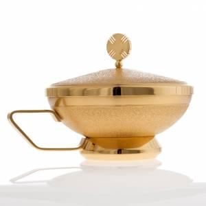 Pisside con manico ottone dorato s2