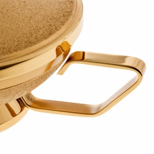 Pisside con manico ottone dorato s3
