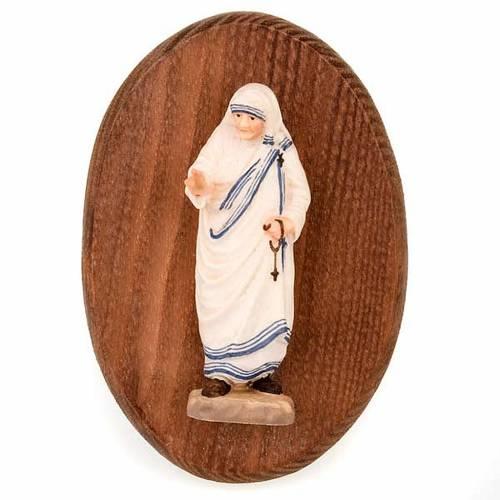 Placca con statua di Madre Teresa s1