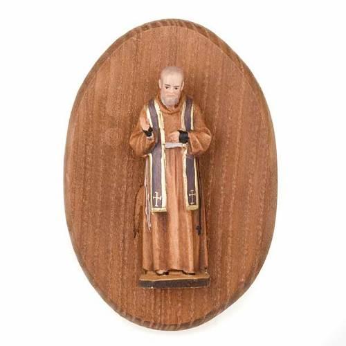 Plaque avec statue de Padre pio s1