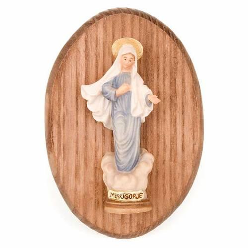 Plaque avec statue Vierge de Medjugorje s1