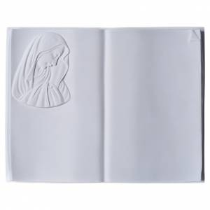Funeral products: Plaque book for cemetery in reconstituted marble, Our Lady