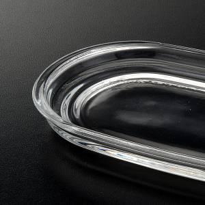 Vinajeras de vidrio: Plato de cristal oval 20 x 10 cm.
