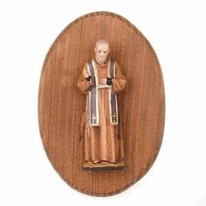 Sonstige Basreliefs: Platte mit Statue des Padre Pio