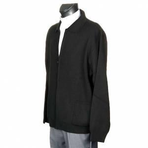 Jackets and fleece jackets: Polo-neck black jacket