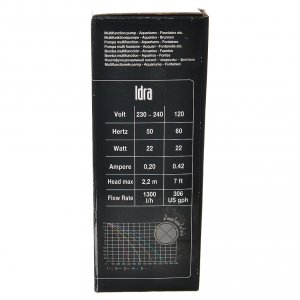 Pompa acqua presepe IDRA 400-1300 litri/ora 25w s8