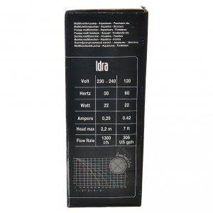 Pompe à eau crèche Idra réglable 400-1300l/h 25W s8