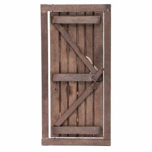 Presepe Napoletano: Porta con infisso in legno 20x10 cm presepe di Napoli