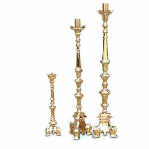 Portacandela barocco dorato s1