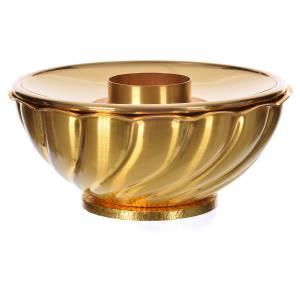 Candelieri metallo: Portacandela ottone cestino