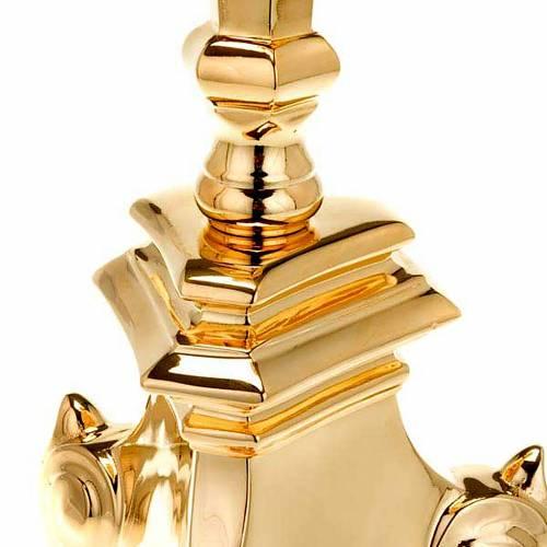 Portacero stile barocco ottone dorato s2