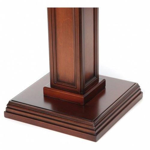 Portacero realizzato in legno di noce s3