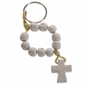 Bracciali, coroncine della pace, decine: Portachiavi decina Medjugorje pietra