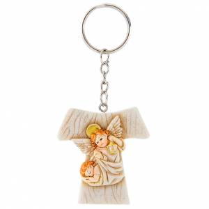 Bomboniere e ricordini: Ricordino portachiavi Tau Angeli  4 cm