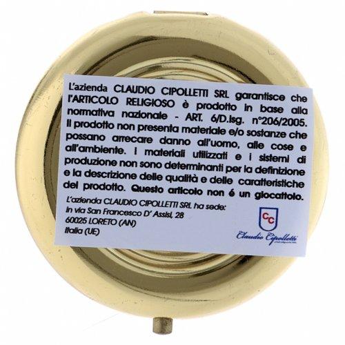 Portaostia JHS metallo placca alluminio finiture oro 5 cm s3