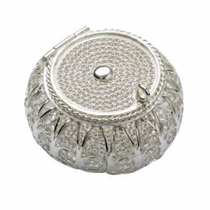 Portarosario tondo argento 800 filigrana s1