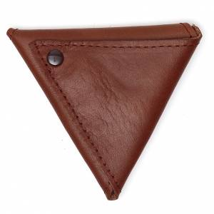 Portachiavi: Portarosario triangolo pelle marrone Giubileo
