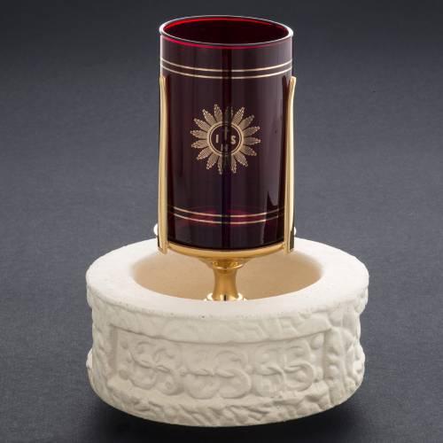 porte verre pour exposition eucharistie cylindre couleur camel s8