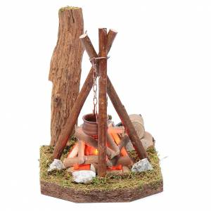 Fireplaces and ovens: Pot and wood for bivouac 230 V