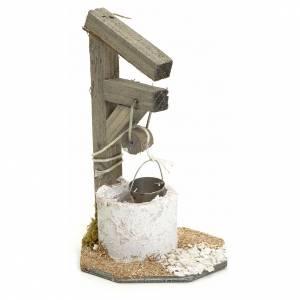 Casas, ambientaciones y tiendas: Pozo para el belén en madera 13 cm