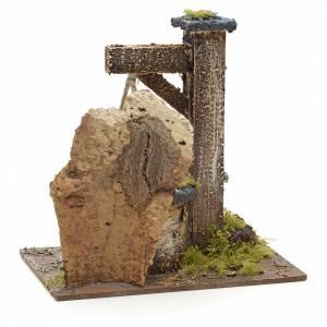 Pozzo presepe con roccia 15x15x10 cm s3