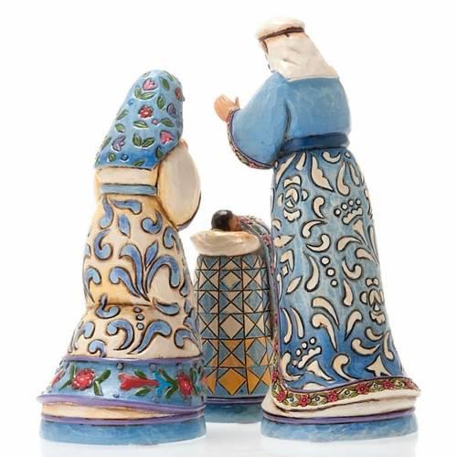 Presepe resina 13.5 cm - Mini Blue Nativity 3