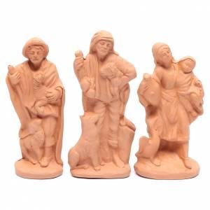 Presepe terracotta naturale 15 statuine 15 cm s4