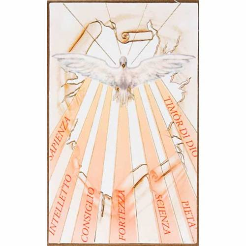 Print on wood, Holy Spirit with with rays s1