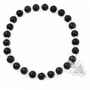 9479910b7064 Pulsera AMEN perlas negras de Murano 6 mm. plata 925 s1