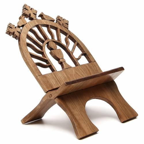 Pupitre table sculpté noyer italien Moines Bethéelem s4
