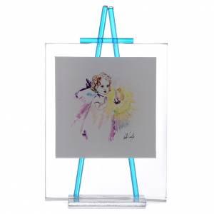 Bomboniere e ricordini: Quadretto acquerello Luce da appoggio 11x14 acquamarina
