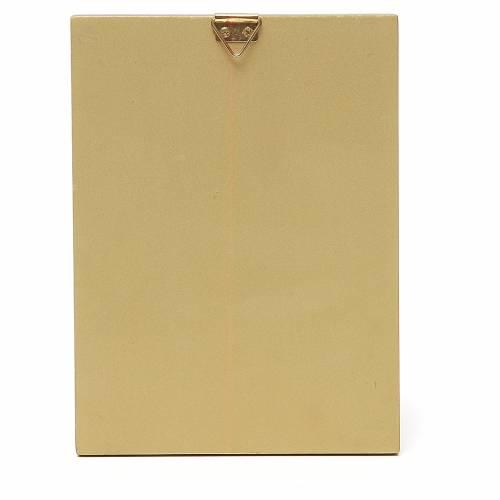 STOCK Quadretto Madonna Tenerezza bordo oro 14x11 cm s2
