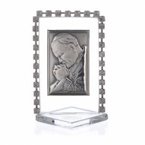 Bomboniere e ricordini: Quadretto Papa G. Paolo II strass 5,5 cm x 3,5 cm