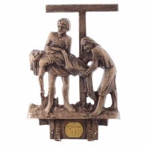 Stazioni Via Crucis 14 quadri bronzo s13