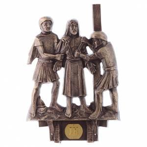 Stazioni Via Crucis 14 quadri bronzo s9