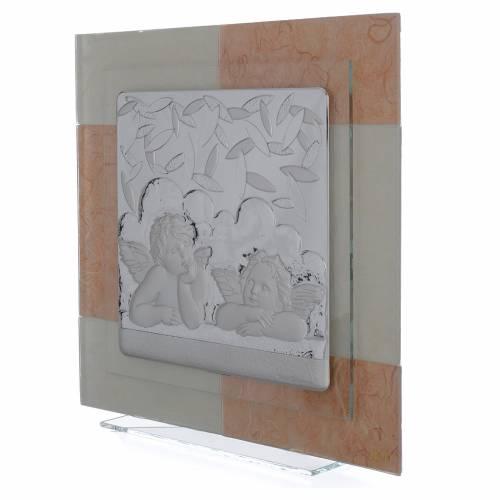 Quadro Angeli avorio tabacco 30x30 cm s2