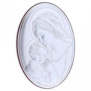 Quadro in bilaminato con retro in legno pregiato Madonna con Bambino 18X13 cm s2