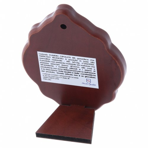 Quadro in bilaminato con retro in legno pregiato Maria 10X7 cm s3