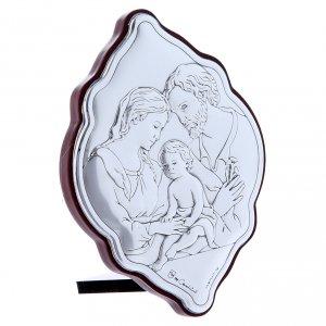 Quadro in bilaminato con retro in legno pregiato Sacra Famiglia 10X7 cm s2