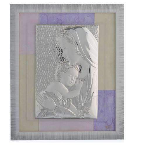 Quadro Sacra Famiglia Rosa-lilla 29x26 cm s1
